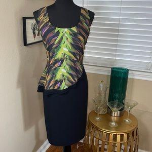 LANE BRYANT BACKLESS PEPLUM DRESS NWOT SZ 14